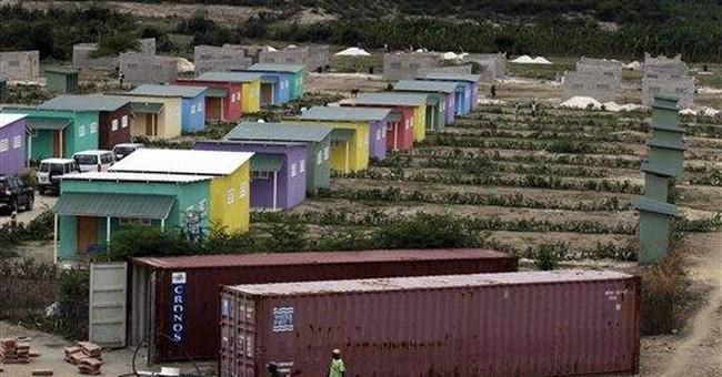 Homes for hundreds going up outside Haiti capital