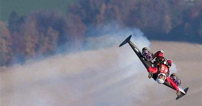 Swiss 'JetMan' puts brakes on Grand Canyon flight