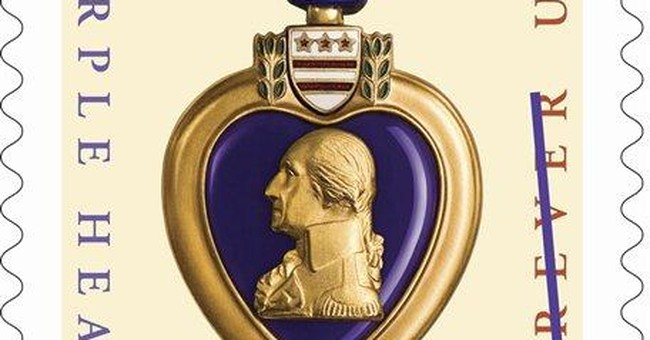 Purple Heart military decoration honored on stamp