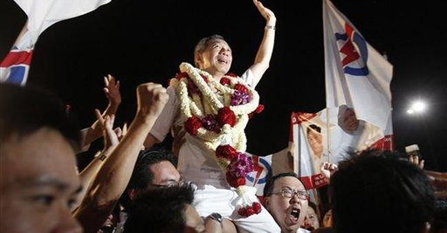 Singapore ruling party wins parliamentary majority