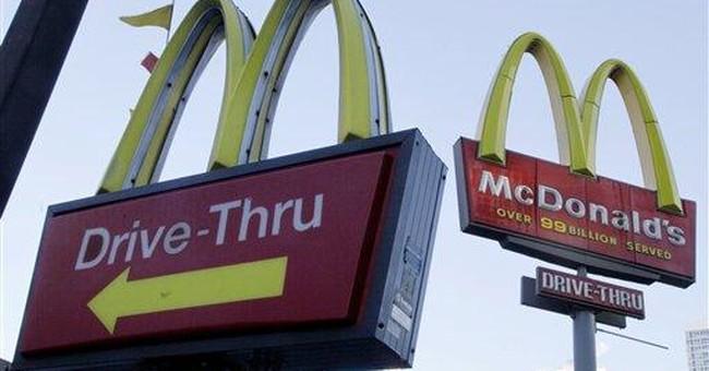 McDonald's sales figure rises 6 percent in April