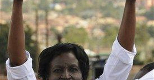 Ugandan women lead nation's latest political rally