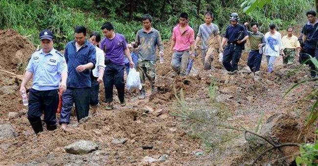 China landslide death toll rises to at least 12