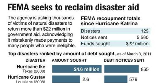 AP IMPACT: FEMA asks for return of disaster aid
