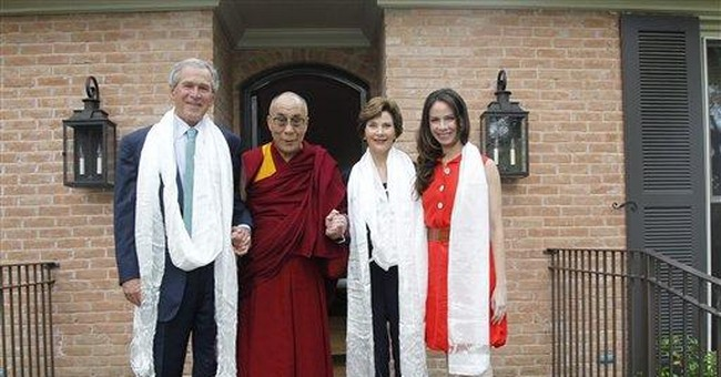 Dalai Lama donates constitution to Bush institute