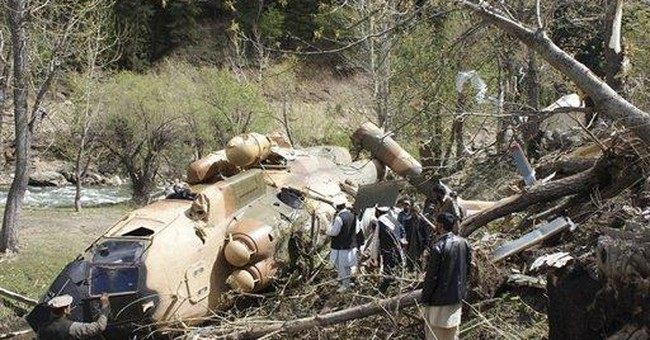 Afghan official says military helicopter crashes