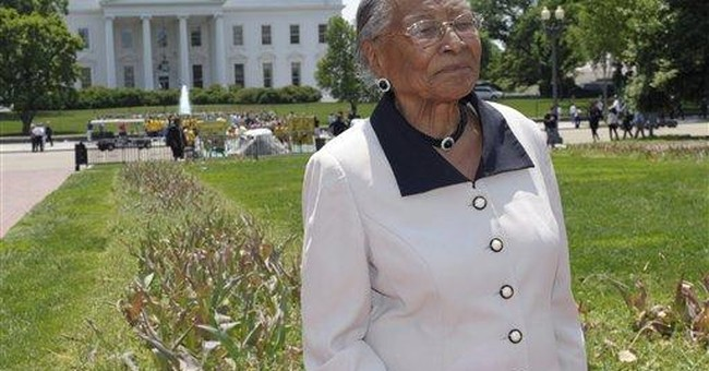 Victim of old injustice revels in White House tour