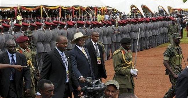 Uganda president promises food, fuel amid protests