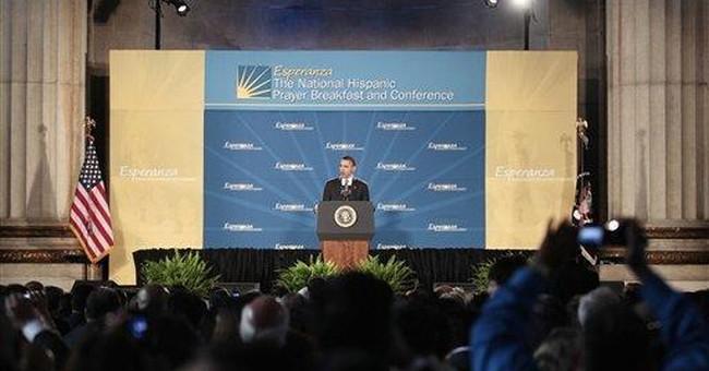 Obama talks immigration at Hispanic prayer event