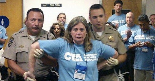 Teachers arrested in protests at Calif. Capitol