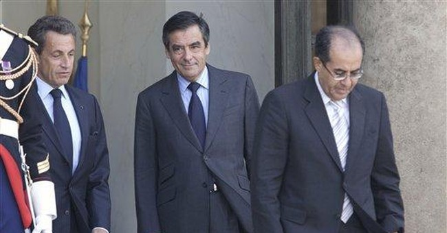 Libyan opposition leader meets French president