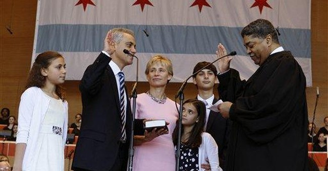 Rahm Emanuel sworn in as Chicago's new mayor