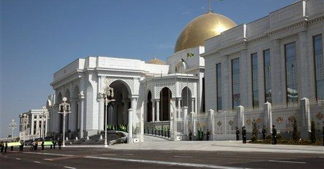 Turkmen leader inaugurates new golden-domed palace