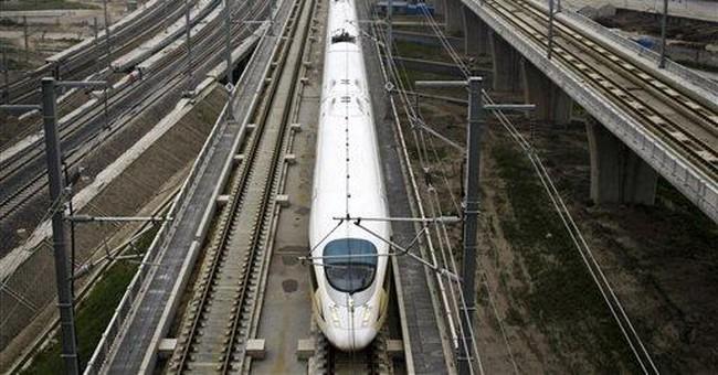 China blocks work on bullet train line