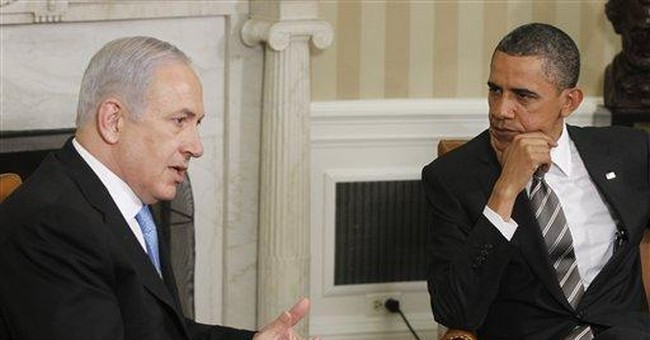 Face to face, Netanyahu rejects Obama on borders