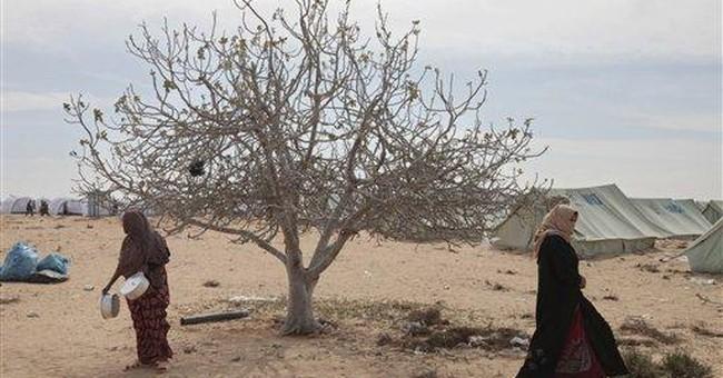 African migrants fleeing Libya in distress