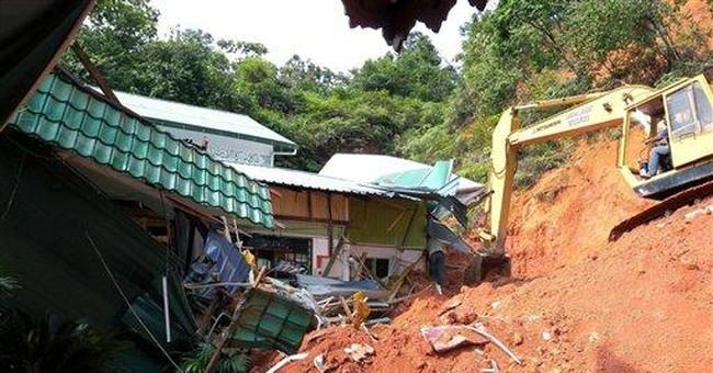 16 killed in landslides at Malaysian orphanage