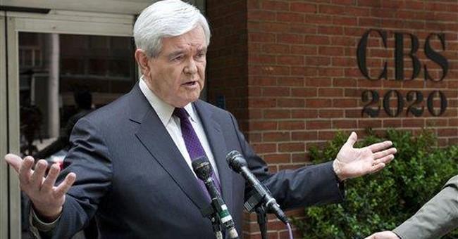 Gingrich: Debt-free, mum on Tiffany's account