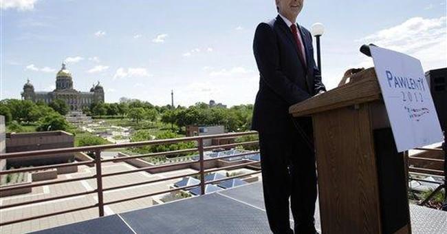 Pawlenty launches bid, delivers tough talk in Iowa