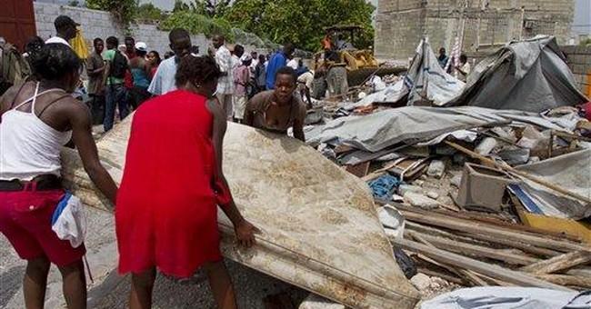 Camps cleared in Haiti as hurricane season starts