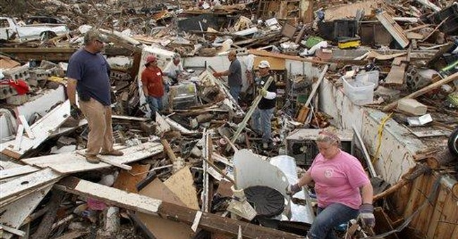 Search for tornado's missing finds few amid debris