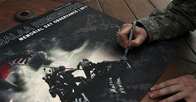 US soldiers in Afghanistan mark Memorial Day