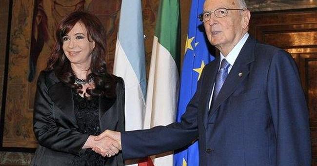 Italian president takes center stage