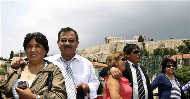 Chilean mine disaster survivors in Greece