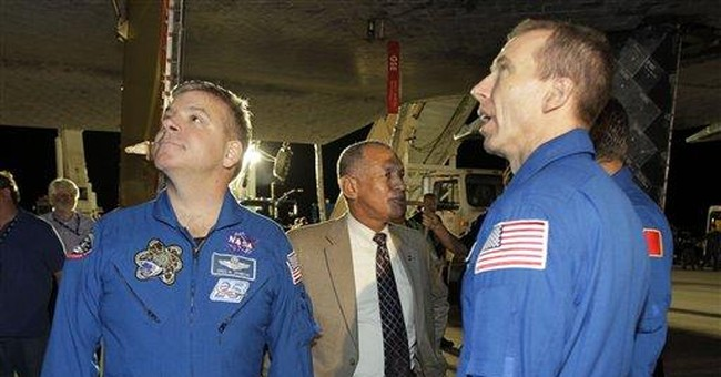 Just one flight: Impending loss in shuttle family
