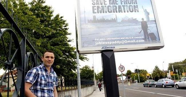 Unemployed man sells himself on Dublin billboard