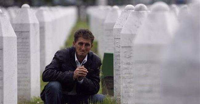 Srebrenica survivor visits Bosnian killing field