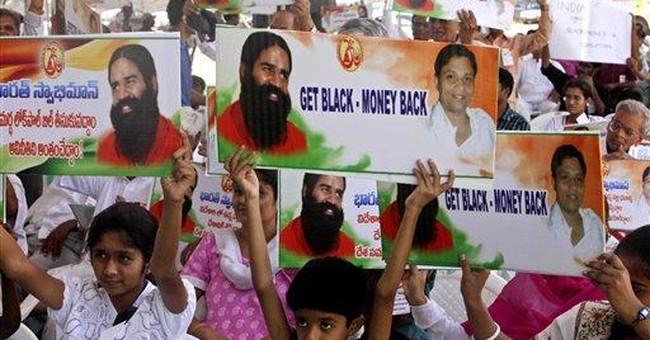 Police break up Indian yoga guru's hunger strike