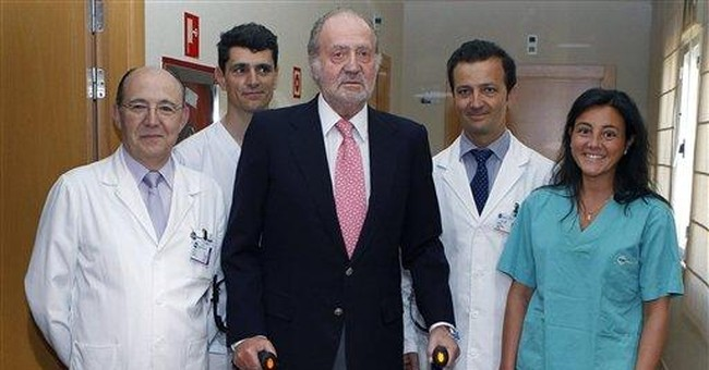 Spain's king leaves hospital after knee operation