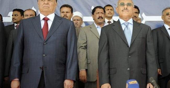 Exit of wounded Yemeni leader sets off celebration