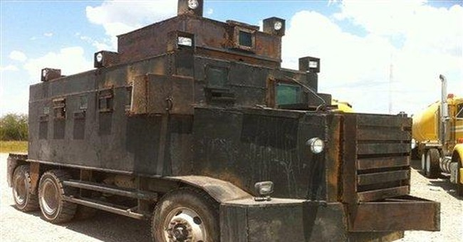 Mexican army seizes drug gang's armored trucks