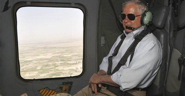 Gates piled up miles as wartime Pentagon chief