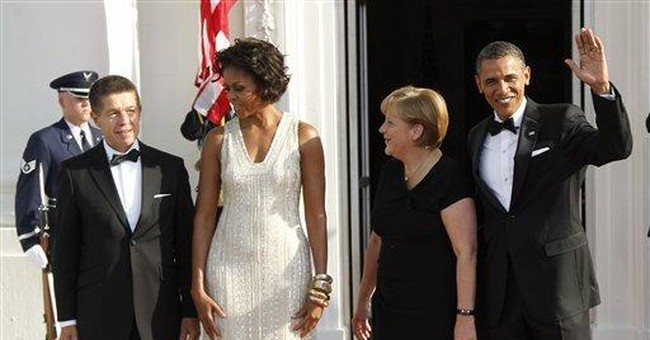 Michelle Obama chooses Naeem Khan gown _ again