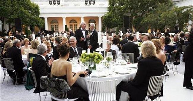 Tuna, strudel at al fresco feast for Angela Merkel