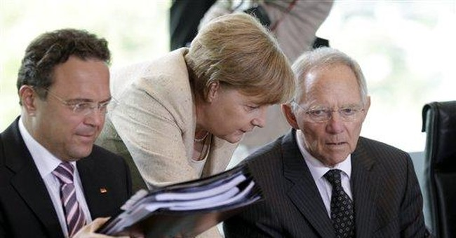 Germany calls for Greek bond swap to gain time