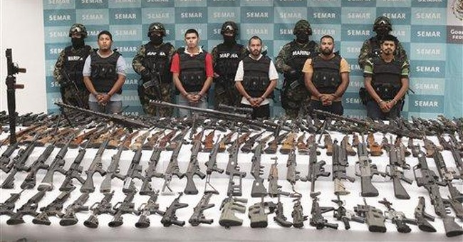 Mexico troops seize 3rd cache of weapons in a week