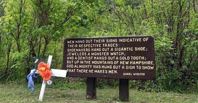 Fallen Rock Star: NH Old Man memorial partly done