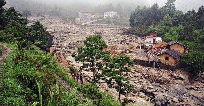 Flooding in central China kills 41; 33 missing