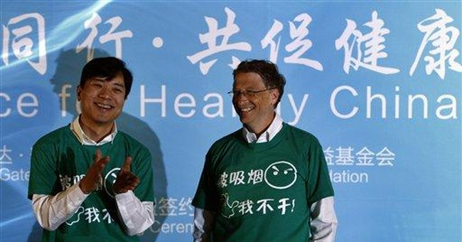 Bill Gates in China push against secondhand smoke