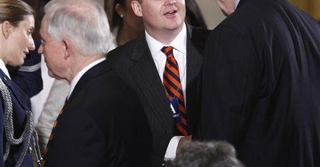 Former press secretary avoids predicting GOP race