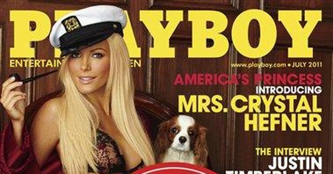 Playboy adds 'Runaway Bride' sticker to July issue