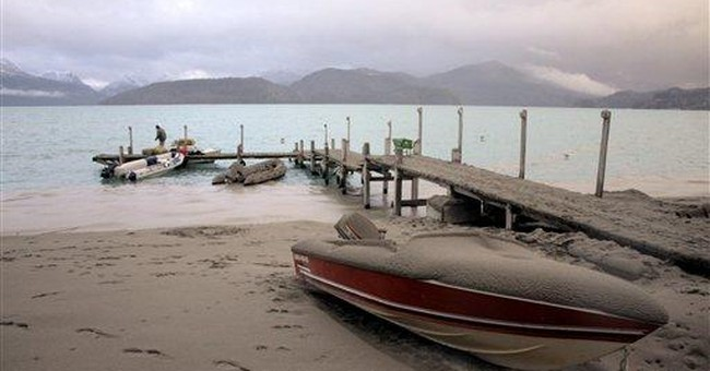 Argentine towns suffer under falling volcanic ash
