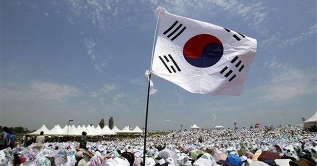 South Korean marines fire at civilian jetliner