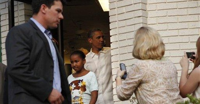 Obamas celebrate Father's Day with ice cream