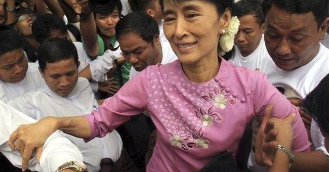 Myanmar's Suu Kyi celebrates birthday in freedom