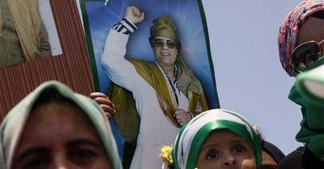 Cries of support at pro-Gadhafi rally in Tripoli